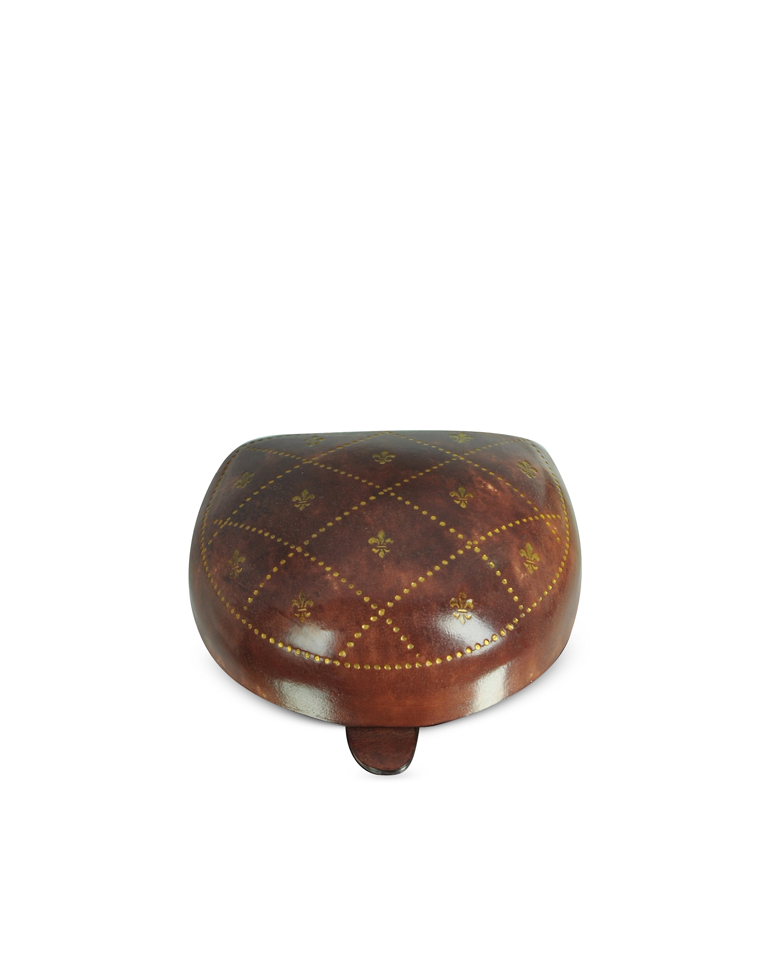 Leather Coin Purse with Small Giglio