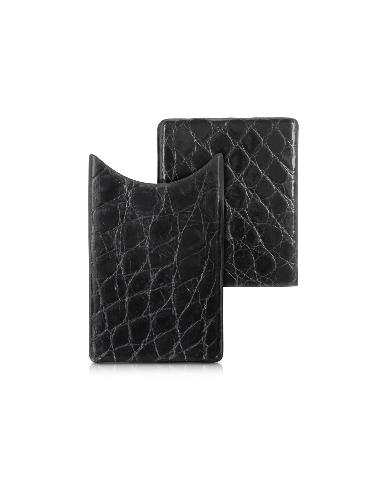 Image of Crocodile-Embossed Leather Card Case