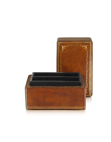 Forzieri Karten-Box aus echtem Leder