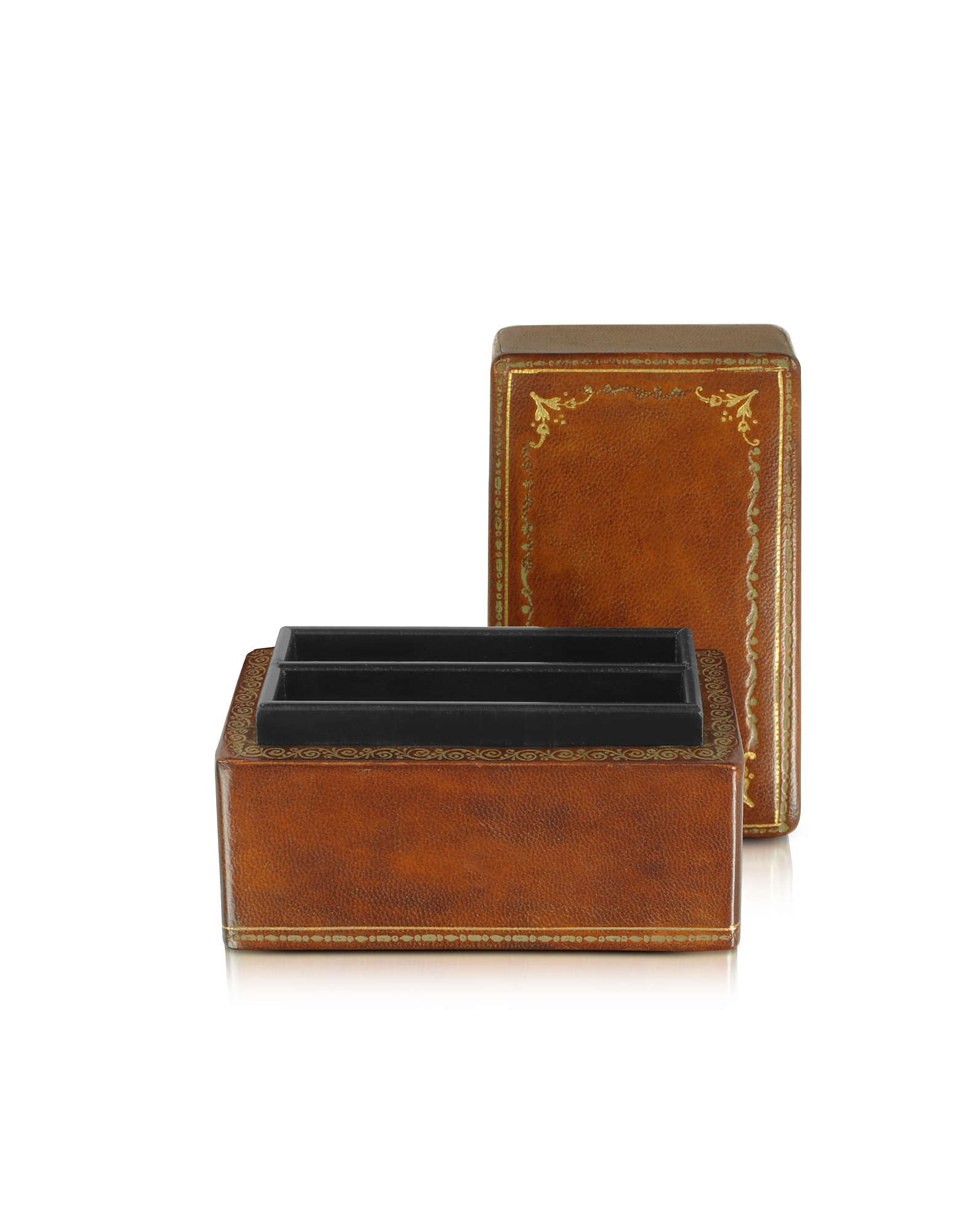 Forzieri Small Leather Goods, Genuine Leather Card Box