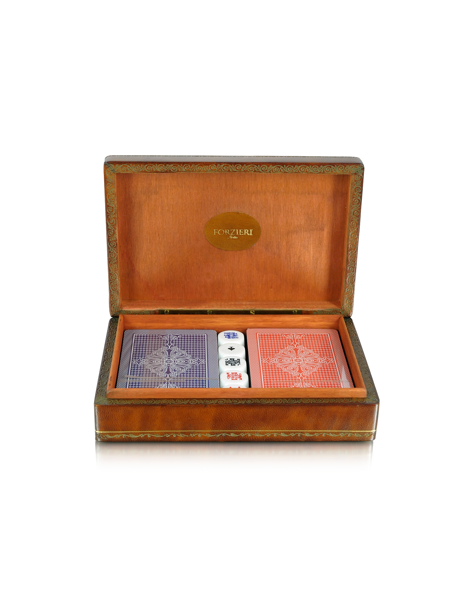 Forzieri Small Leather Goods, Genuine Leather Game Box