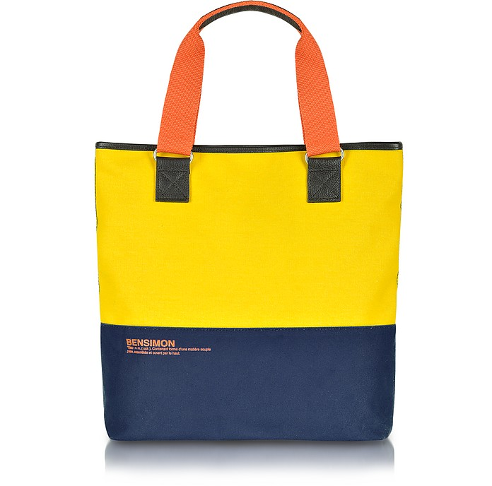 Surplus Line - North/South Canvas Color-Block Tote - Bensimon Collection