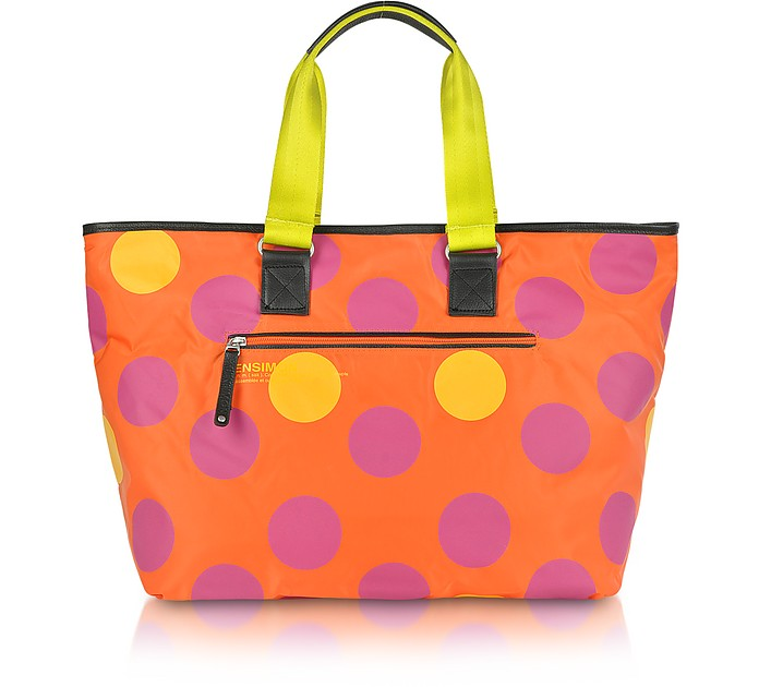 XL Dot Line - Medium Nylon Hold-All Tote - Bensimon Collection