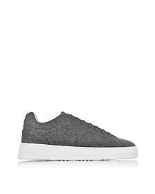 Low 4 Ash Gray Wool Men's Sneaker - ETQ Amsterdam