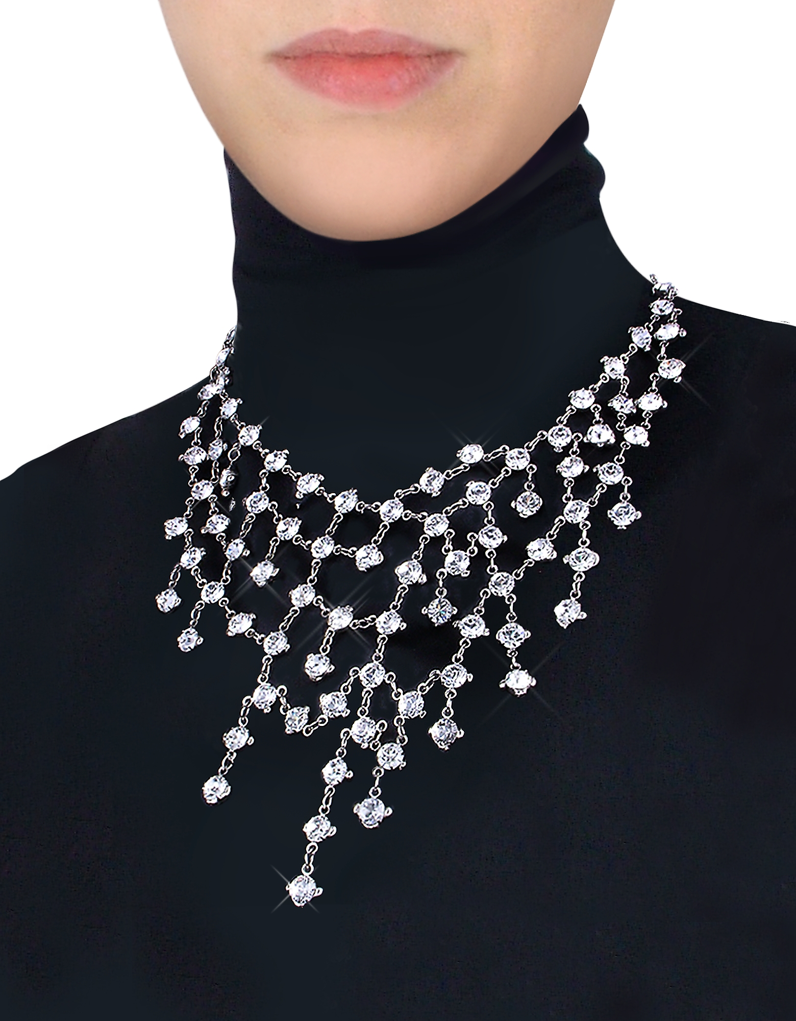 Evatini Necklaces, Crystal Web Necklace