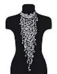 Crystal Cascade Drop Evening Necklace  - Evatini