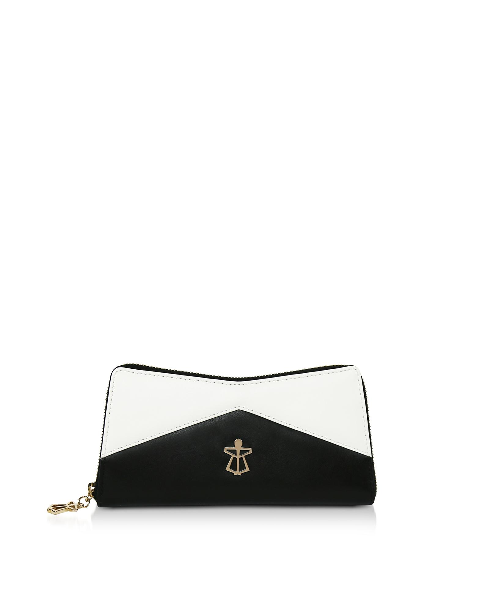 Black & White Leather Lara Wallet