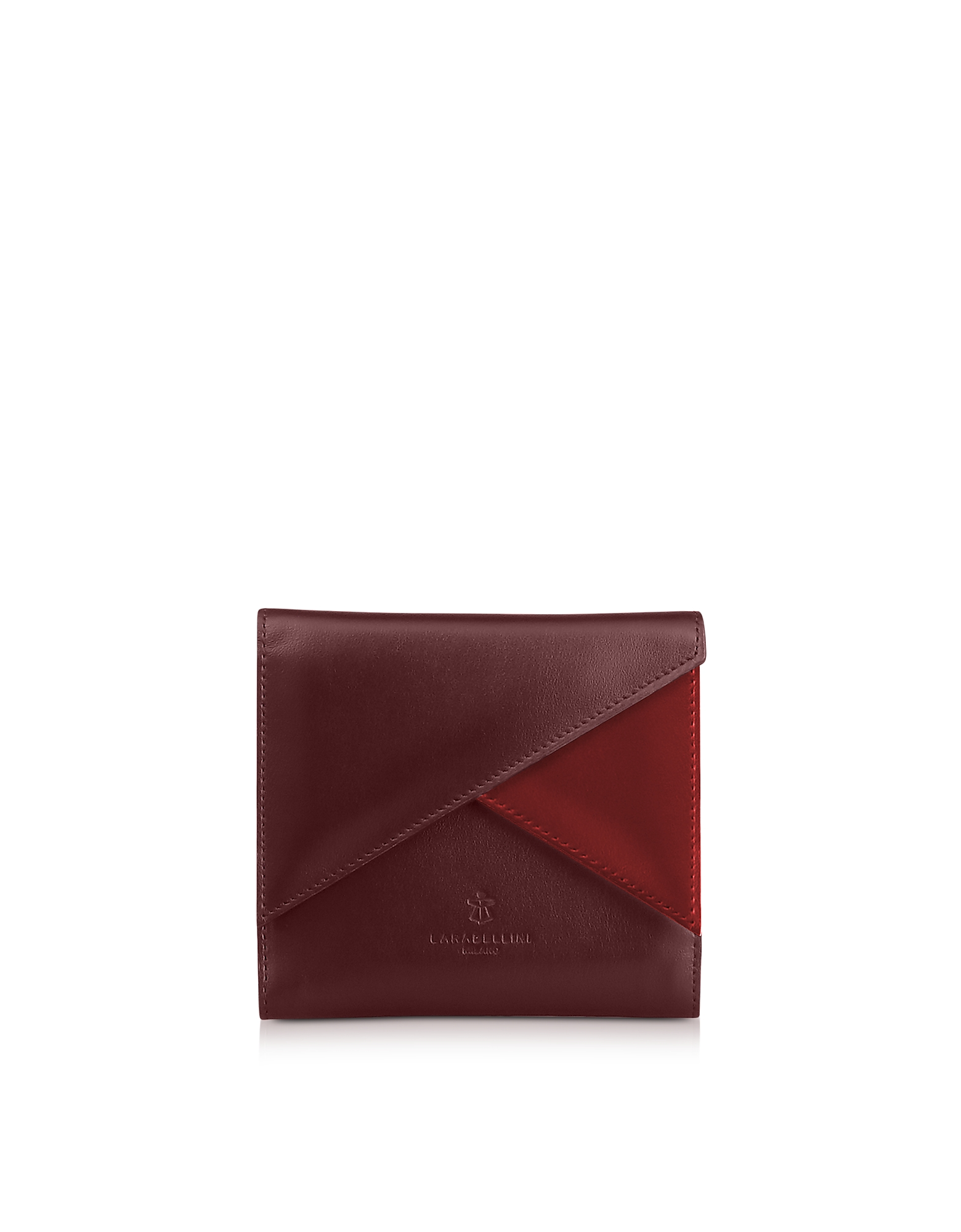 Two Tone Leather Squared Vela Wallet