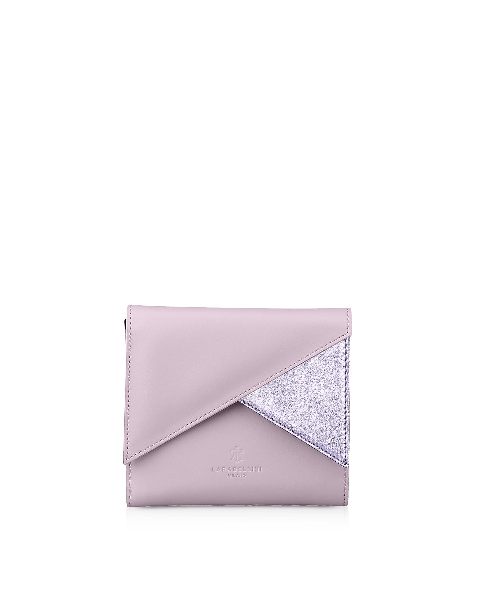 Lara Bellini Designer Wallets, Pink Leather Vela Women