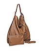 Madeleine Brown Embossed Leather Tote - Francesco Biasia