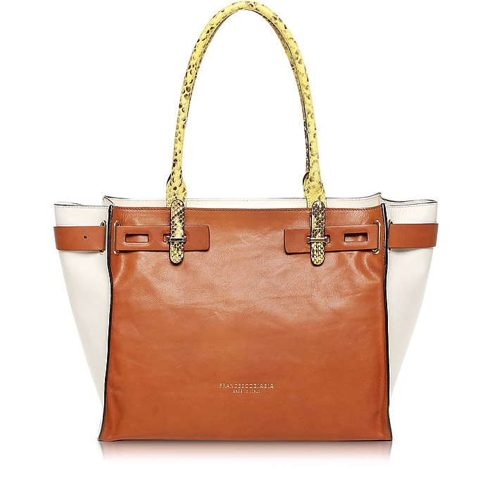Hampstead Color Block Leather Tote - Francesco Biasia