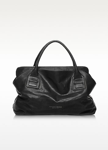 Vendome Haircalf and Leather Tote - Francesco Biasia