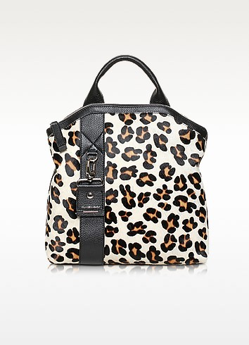 Paradise Medium Haircalf and Leather Backpack - Francesco Biasia