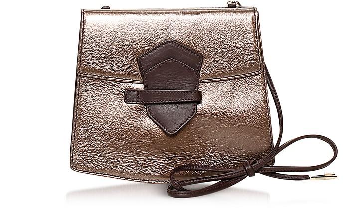Vida Metallic Leather Crossbody Bag - Francesco Biasia