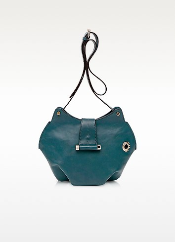 Neroli Emerald Green Leather Crossbody Bag - Francesco Biasia