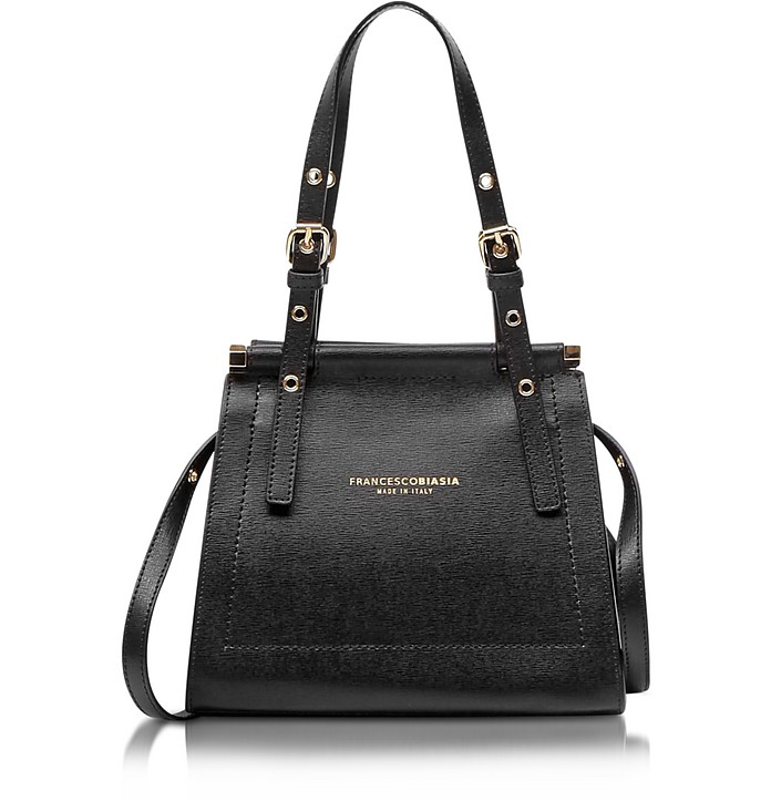 Narciso Lizard Embossed Leather Satchel bag - Francesco Biasia