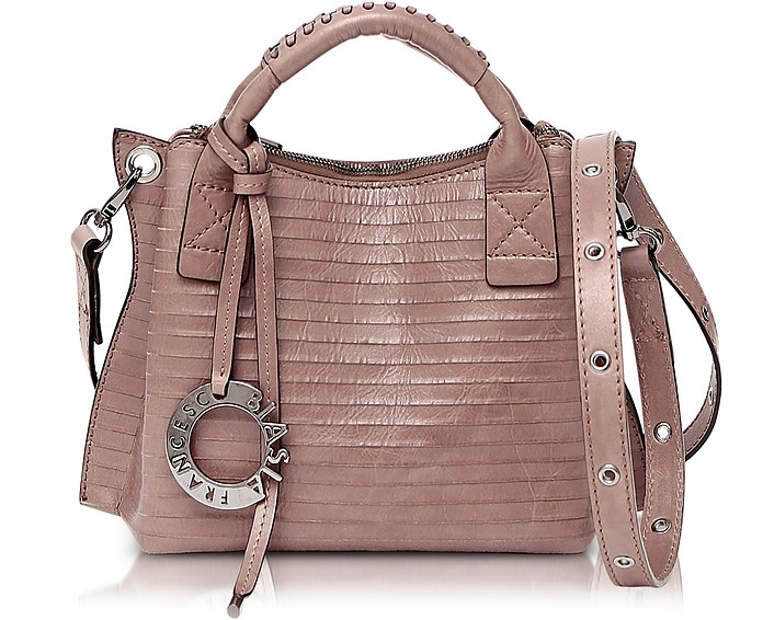 Gardenia Leather Handbag w/Shoulder Strap - Francesco Biasia