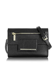 Nora Hammered Leather Clutch w/Shoulder Strap - Francesco Biasia