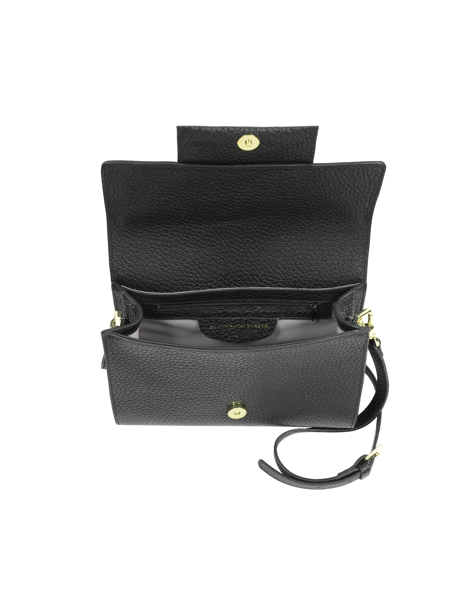 Nora Hammered Leather Clutch w/Shoulder Strap от Forzieri INT