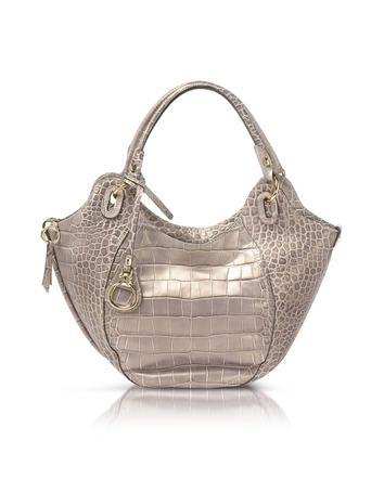 Foto der Handtasche Francesco Biasia Sylvie - Grosse Handtasche mit Krokopraegung