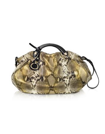 Francesco Biasia Dauphine - Python Stamped Large Satchel Bag