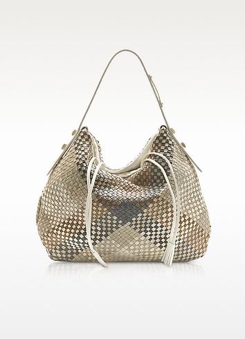 Ismene - Woven Leather Hobo Bag - Francesco Biasia