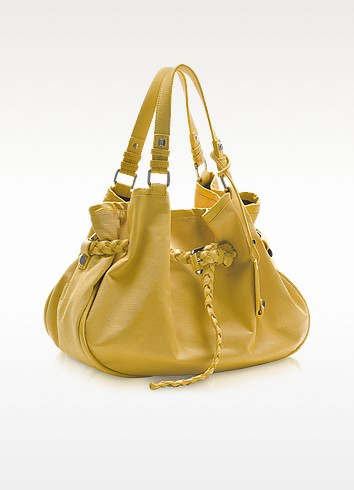 Egle - Embossed Leather Satchel Bag - Francesco Biasia