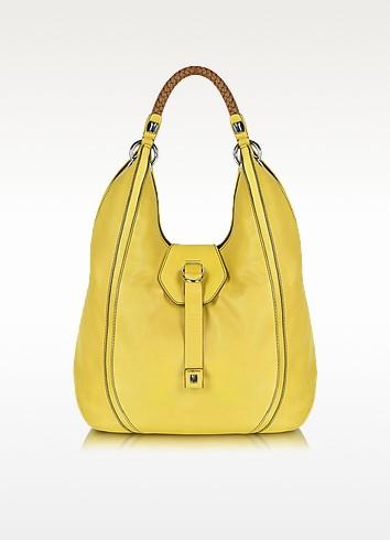 Calliope - Large Leather Hobo Bag - Francesco Biasia