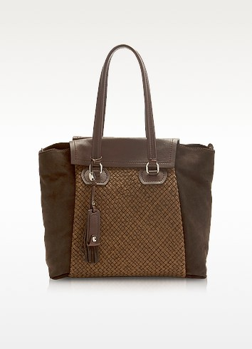 Heidi - Woven Leather Tote - Francesco Biasia