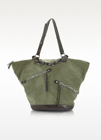 Brooke Amazon Life - Canvas and Leather Tote - Francesco Biasia