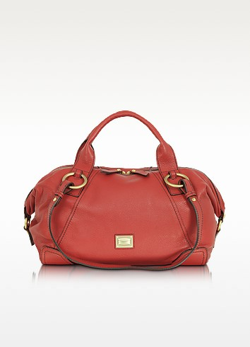 Daria - Large Leather Satchel Bag - Francesco Biasia