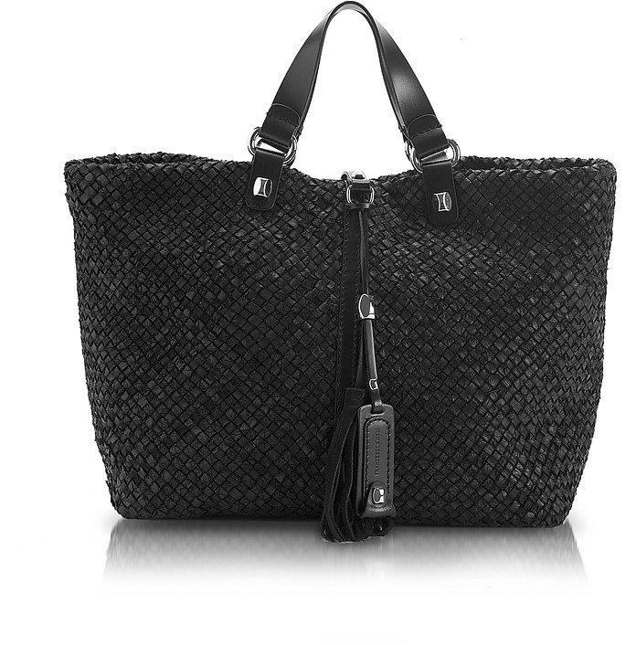 Helena Patchwork - Woven Leather Tote - Francesco Biasia