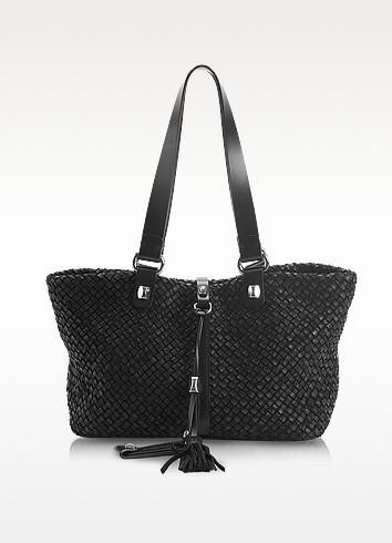 Helena Patchwork - Medium Woven Leather Tote - Francesco Biasia