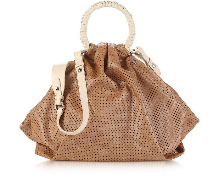 Miramar - Perforated Leather Satchel - Francesco Biasia
