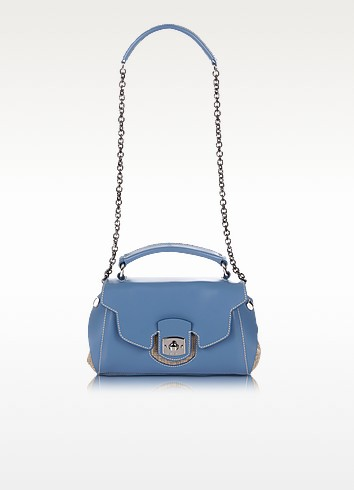 Phuket - Leather and Canvas Shoulder bag - Francesco Biasia