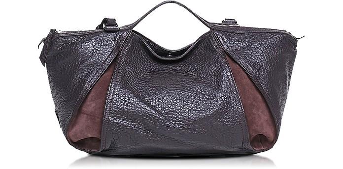 Copacabana Grainy Leather and Nabuk Tote w/Shoulder Strap - Francesco Biasia