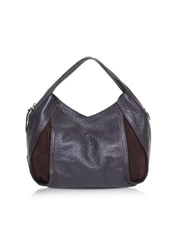 Copacabana Grainy Leather and Nabuck Shoulder Bag
