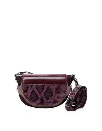 Biasiette Embossed Leather Shoulder Bag