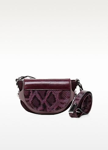 Biasiette Embossed Leather Shoulder Bag - Francesco Biasia