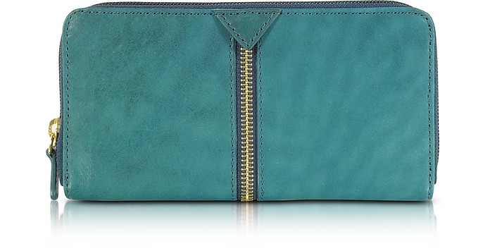 Harlem Leather Zip Around Wallet - Francesco Biasia