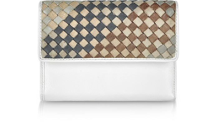 Ismene - Woven Leather Flap Wallet - Francesco Biasia