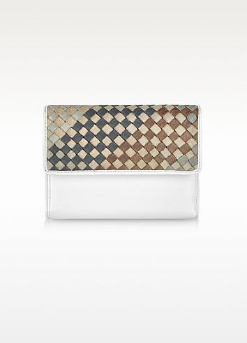 Ismene - Woven Leather Flap Wallet - Francesco Biasia