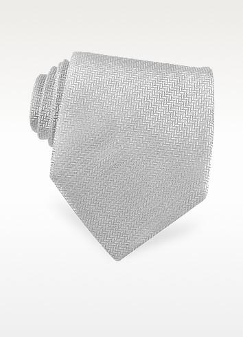 Selleria - Solid Woven Silk Tie - Fendi
