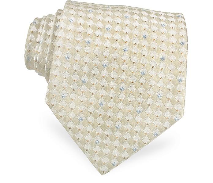 Mini Logo Checks Woven Silk Tie - Fendi