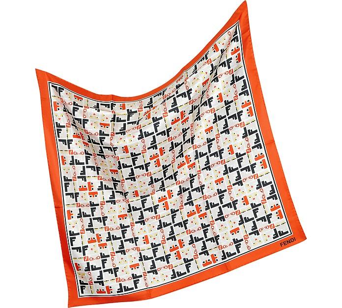 Bag Bugs Print Square Scarf - Fendi