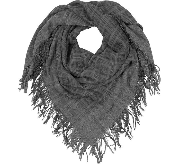 Large Woven Wool Square Scarf - Fendi