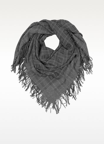 Large Woven Wool Square Scarf - Fendi