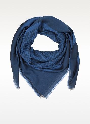 All Over Woven Zucca Logo Viscose Wrap - Fendi