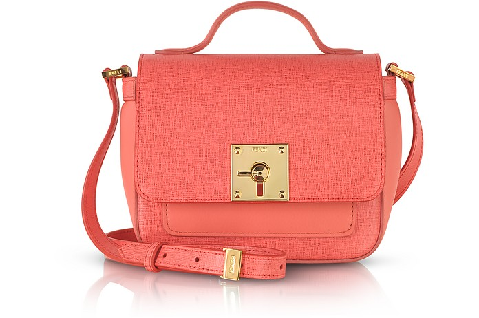 Bag Bugs Coral Red Leather Shoulder Bag - Fendi / フェンディ