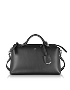 Fendi By The Way Small Black Leather Small Boston Bag fd130217-001-00